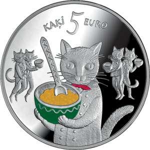 Pasaku monēta I. Pieci kaķi